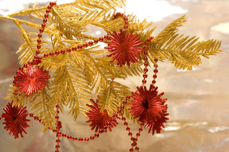 red new-year stars and Christmas tree Stock Photo - 2207387