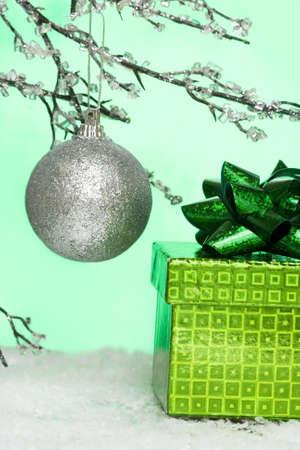 Christmas ball and gift box  photo
