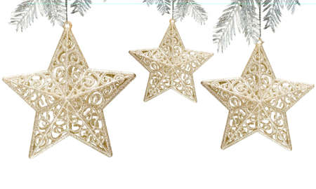 Star decoration on white background Stock Photo - 2456447