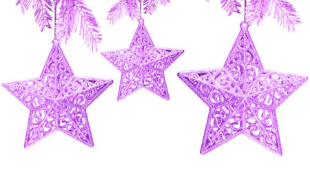 Star decoration on white background  Stock Photo - 2456450
