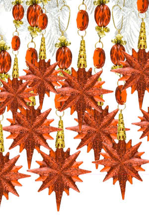 red decoration stars isolated on white background Stock Photo - 2456449