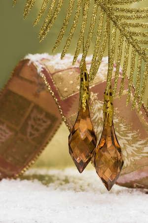 golden decoration on beautiful branch Stock Photo - 2456494