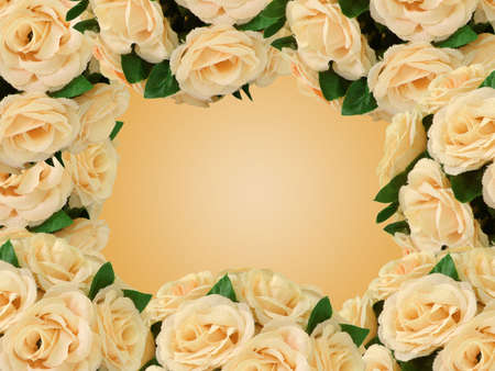 artificial flowers for decoration frame  photo