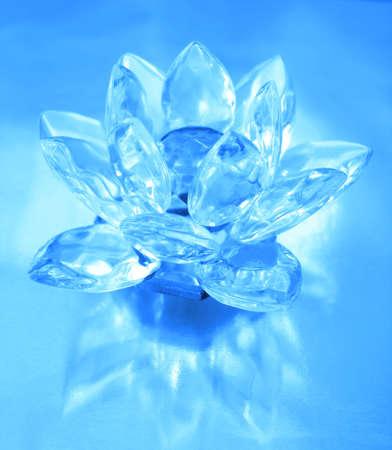 Diamond flower on blue background  Stock Photo - 2532260