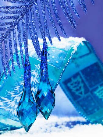 blue decoration on beautiful branch Stock Photo - 3173959