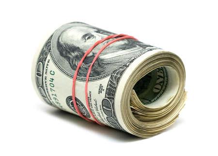 copula of dollars on white background  photo
