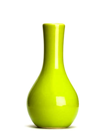 collectable: green vase isolated on white background