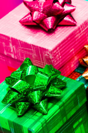 green and pink gift boxes Stock Photo - 3916651