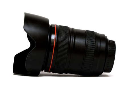 electronic balance: camera lens isolated on white background