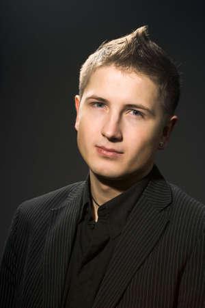attractive businessman in black shirt Stock Photo - 3922578