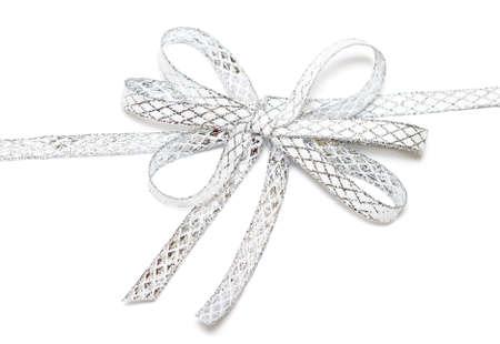 cinta de plata aislado en el fondo blanco