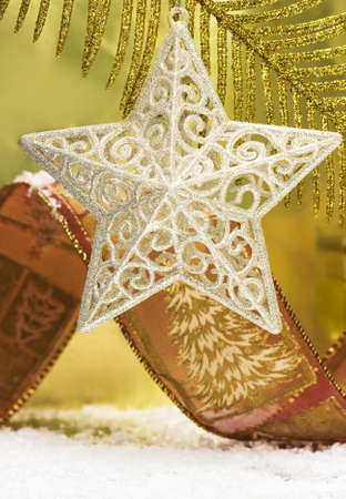 silver star on Christmas tree Stock Photo - 4112108