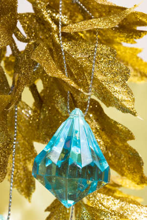 blue new-year decoration and Christmas tree Stock Photo - 4161038