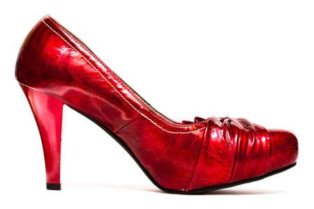 womanish shoes isolated on white background Stock Photo - 4342450