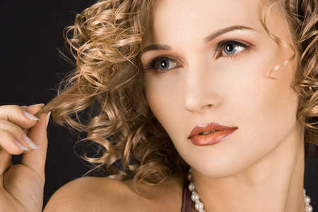 portrait of wonderful woman with curls  Stock Photo - 4384805