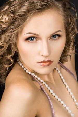portrait of wonderful woman with curls