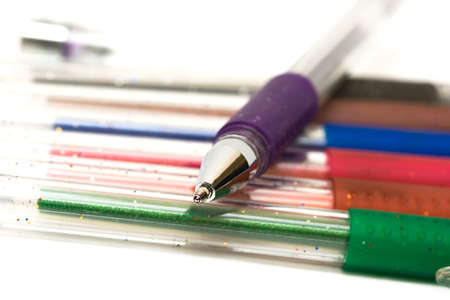 close-up of pens (shallow DOF)  photo