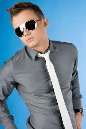 attractive businessman in glasses and tie Stock Photo - 4762821