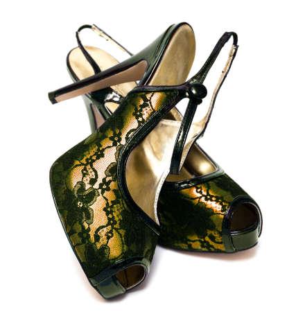 womanish shoes isolated on white background  Stock Photo - 4848775