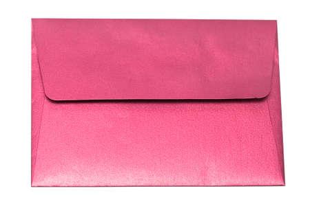 red envelope isolated on white background  photo