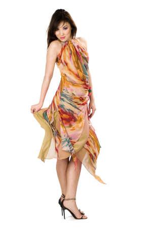 beautiful Asian woman in yellow dress Stock Photo - 5091951