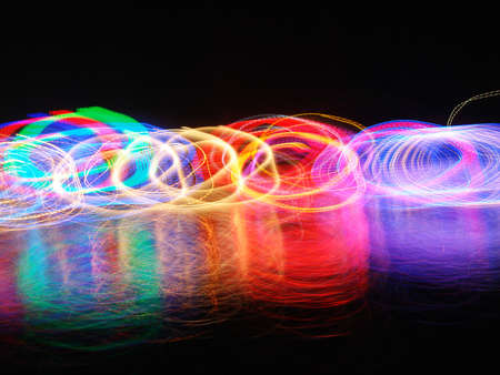 Abstract background with coloured light  photo