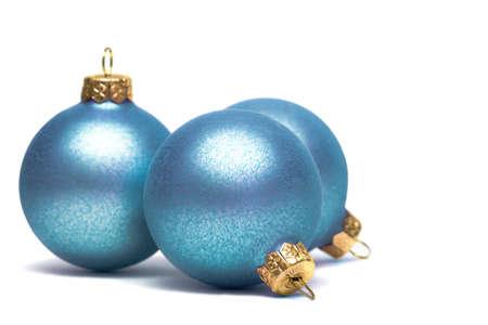 feliz: Christmas decoration balls isolated on white