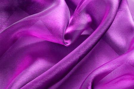 purple silk: fabric silk texture for background Stock Photo