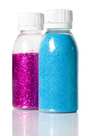 lustre: decorative spangles are in a jar
