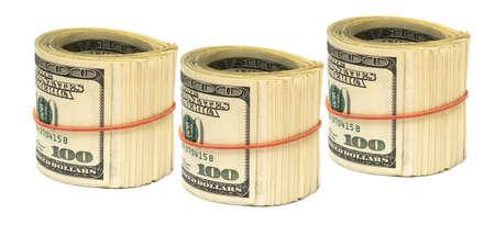 copula: copula of dollars on white background