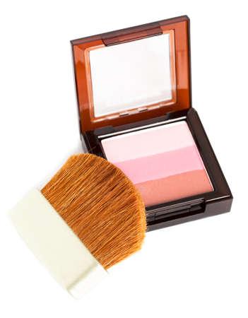 make-up rouge isolated on white photo