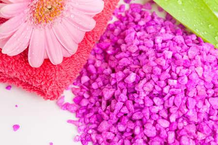 Spa essentials (bath salt and flower) photo