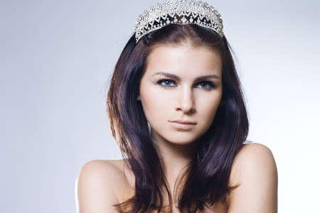 beautiful princess with diamond crown photo
