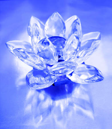 Diamond flower on blue background Stock Photo - 7422494