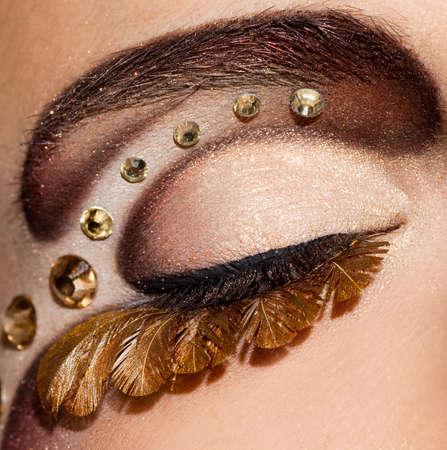 cilia: close-up of beautiful womanish eye