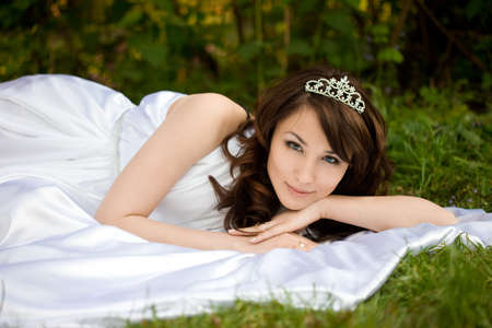 beautiful woman in the fairy-tale forest photo