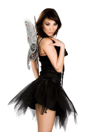 beautiful Asian woman like butterfly photo
