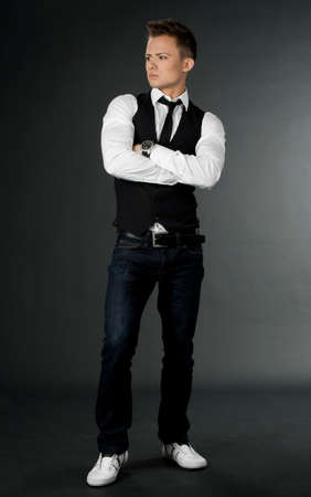 attractive businessman in black waistcoat Stock Photo - 7641995