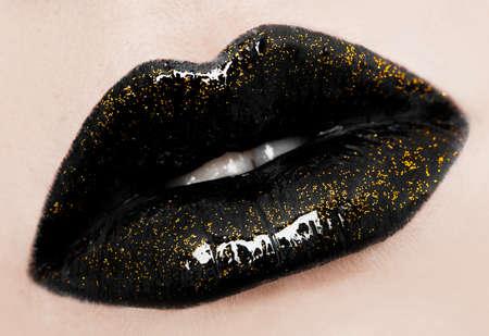 close-up of beautiful womanish lips Stock Photo - 7642017