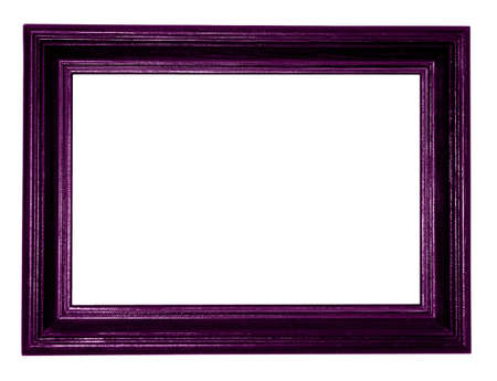 purple antique frame on white background  photo
