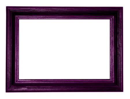 dark purple: purple antique frame on white background  Stock Photo