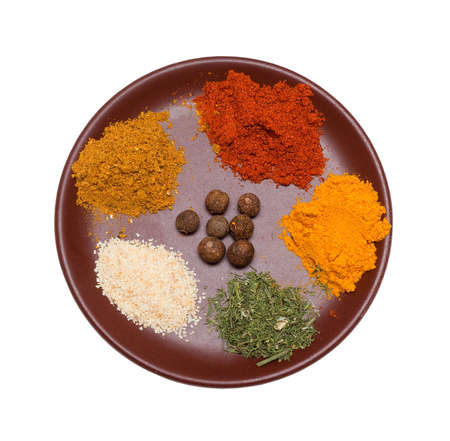 many different spices in plate Stock Photo - 7928805