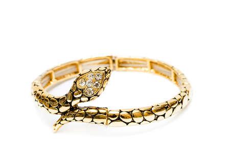 golden bracelet isolated on white background Stock Photo