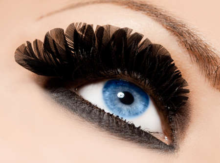 close-up of beautiful womanish eye Stock Photo - 7964505