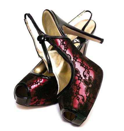 womanish shoes isolated on white background  Stock Photo - 8067832