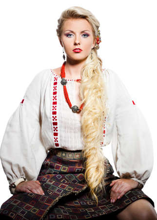 beautiful woman in national costume photo