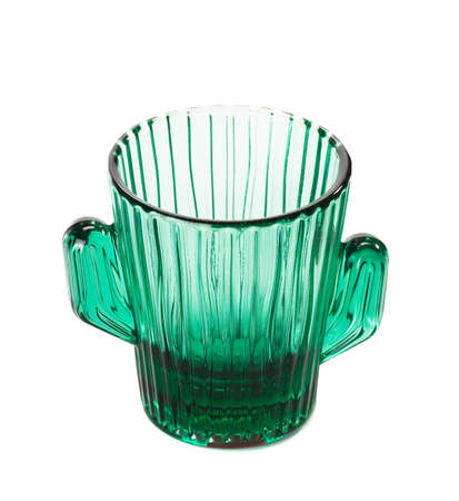 empty glass isolated on white background photo