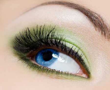 close-up of beautiful womanish eye Stock Photo - 8263287