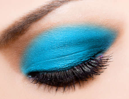 close-up of beautiful womanish eye photo
