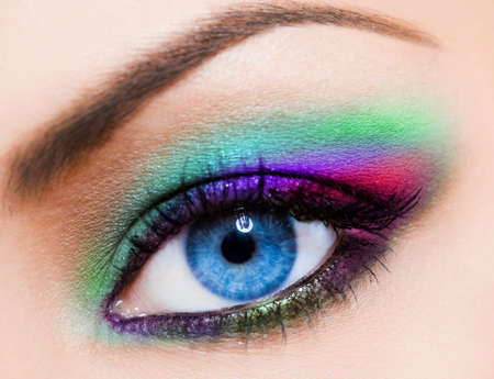 close-up of beautiful womanish eye  Stock Photo - 8338678